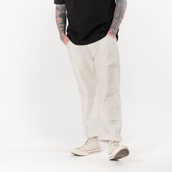 White 12oz Herringbone Logger Pants