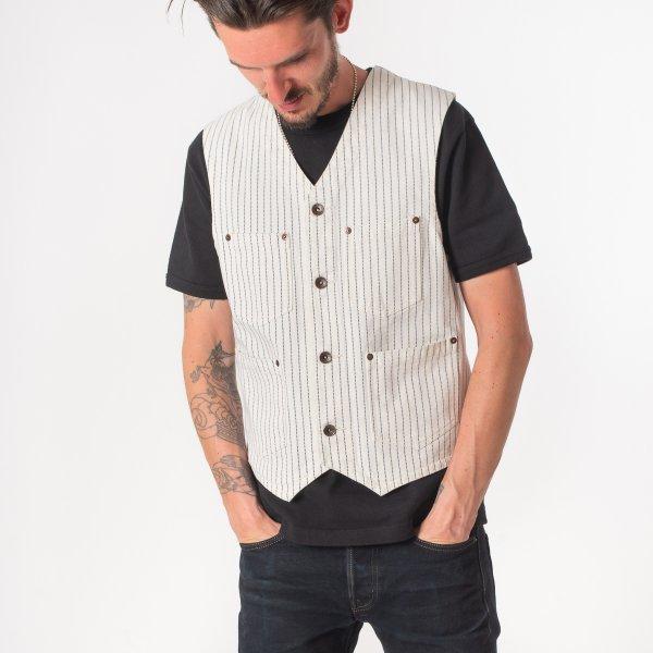 White Wabash/White Duck Work Vest