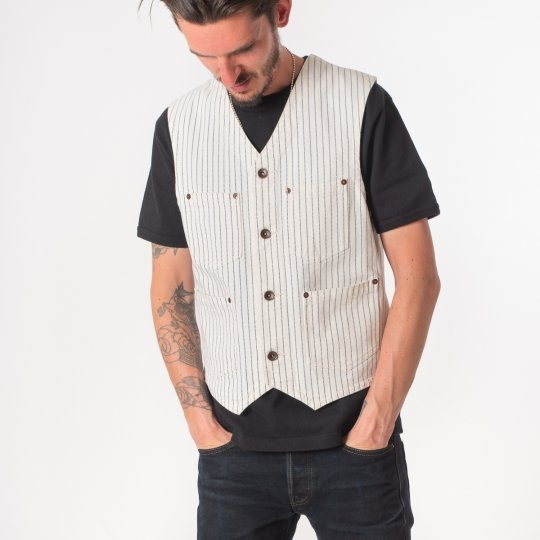 White Wabash/White Duck Work Vest