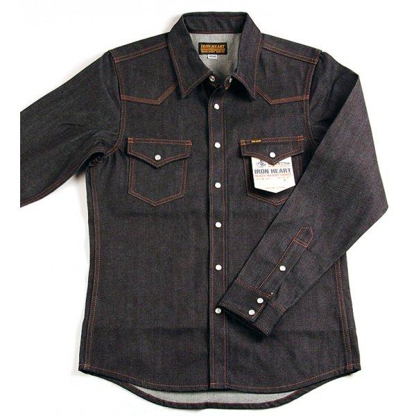 12oz Raw Indigo Denim Western Shirt