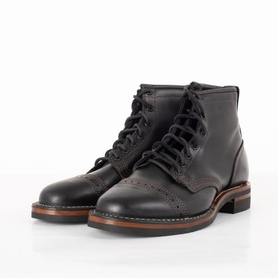 "The Bootery/Wesco® - 7"" Black Tie Domain Toe Cap Boot"