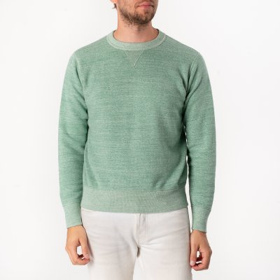 Heavy Loopwheel Fleece Lined Sweater - Mint