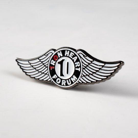 Iron Heart 10 Year Forum Anniversary Pin