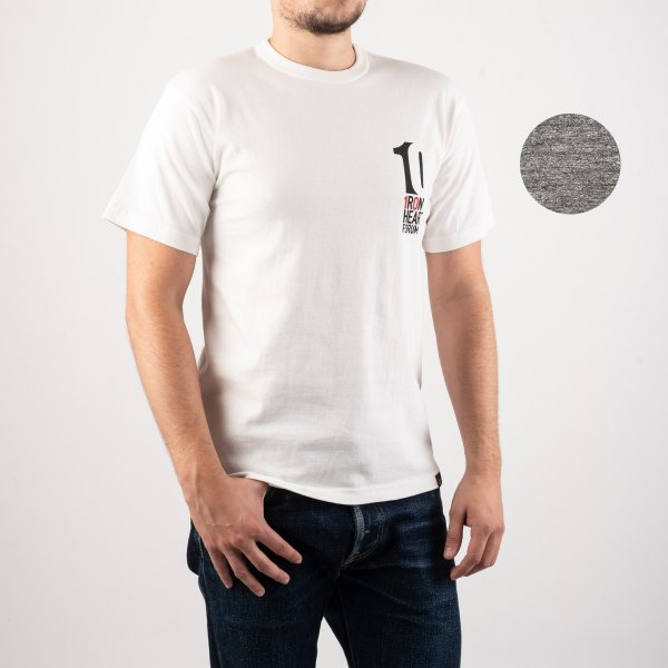 "6.5oz Printed Loopwheel Crew Neck T-Shirt ""IH Forum 2019"" - White or Grey"