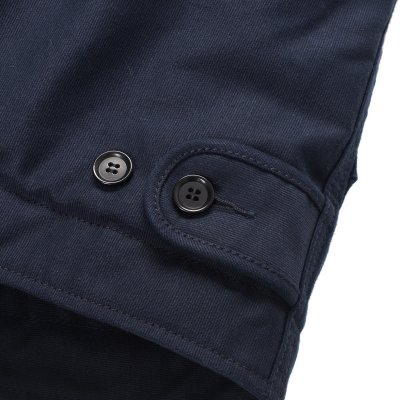 Alpaca Lined Whipcord Modified N1 Deck Vest - Indigo