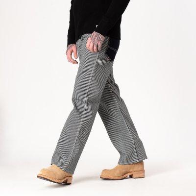 17oz Hickory Stripe Painter's Pants - Indigo/White