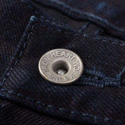 14oz Selvedge Denim Straight Cut Jeans - Indigo/Black