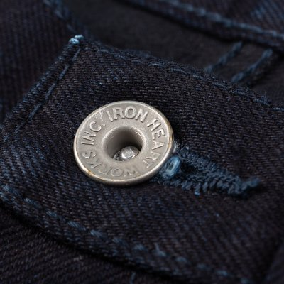 14oz Selvedge Denim Slim Straight Cut Jeans - Indigo/Black
