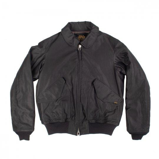 Black Cotton Satin Thinsulate CWU-45P Type Flight Jacket