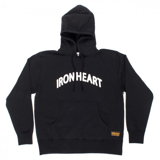 Black Ultra Heavy Printed Hooded Pull-On Sweat