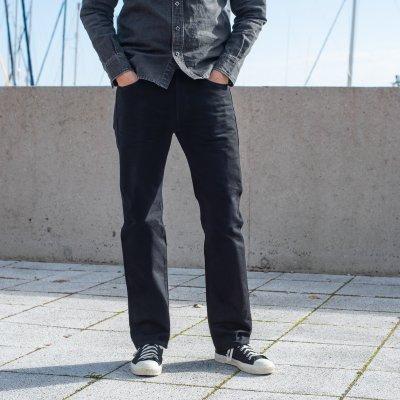 14oz Selvedge Denim Straight Cut Jeans - Black/Black