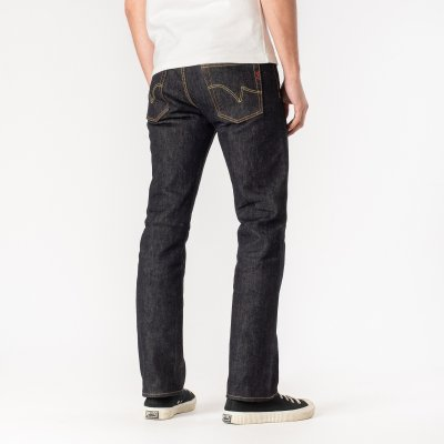 21oz Selvedge Denim Slim Straight Cut Jeans - Indigo