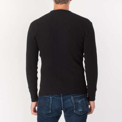 Long Sleeved Thermal Crew Neck - Black, Grey & White