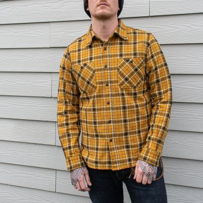 Ultra Heavy Flannel Classic Check Work Shirt - Mustard