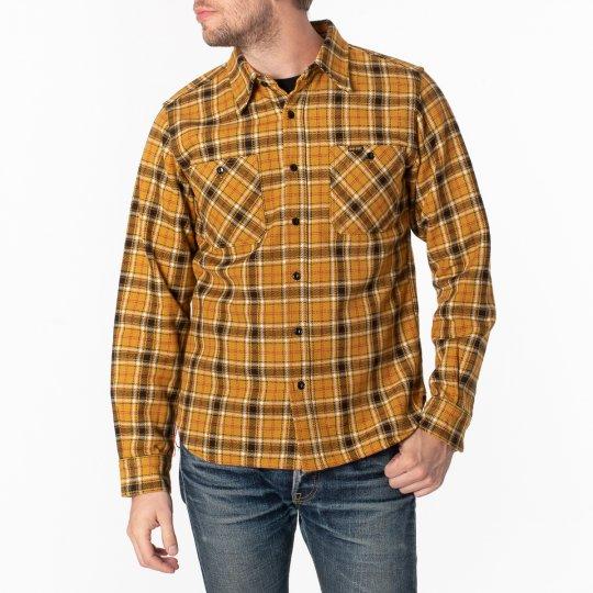 Ultra Heavy Flannel Classic Check Work Shirt - Mustard