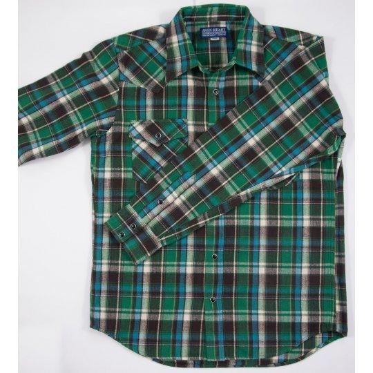 Heavy Herringbone Flannel Western Shirt