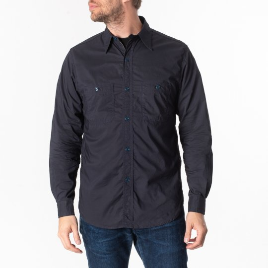 Papa Nui 4oz Cotton Poplin Tarawa Shirt - Navy