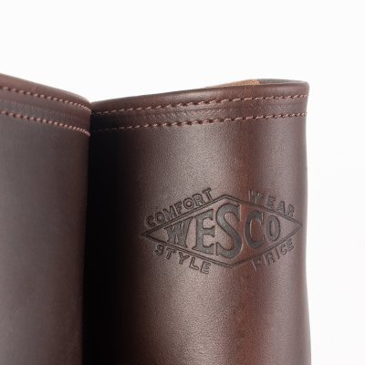 "Wesco® - 10"" Horsehide Pull-On ""Mister Lou""  Engineer Boot - Brown"