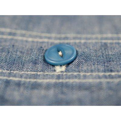 Organic Cotton/Natural Indigo 5.5oz Chambray Work Shirt