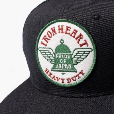 Iron Heart Snap Back Cap - Black