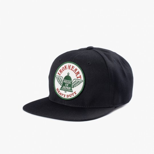 Iron Heart Snap Back Cap - Black