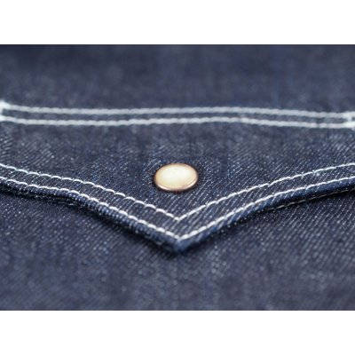 Organic Cotton/Natural Indigo 7.5oz Denim Western Shirt