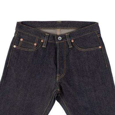 21oz Left Hand Twill Selvedge Denim Straight Cut Jeans - Indigo