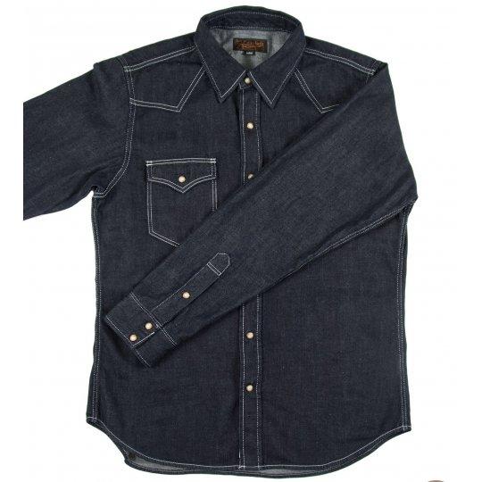 Organic Cotton/Natural Indigo 7.5oz Denim Western Shirt