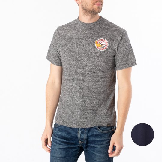 "6.5oz Printed Loopwheel Crew Neck T-Shirt ""Hard as Duck"" - Marl Grey or Navy"