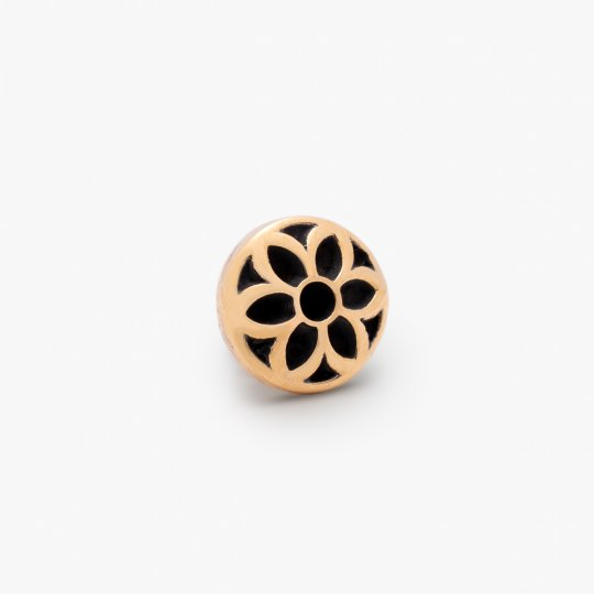 GOOD ART HLYWD Rosette Stud Earring - 22K Gold