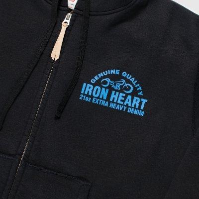 Ultra-Heavy Printed Hooded Sweat – Black