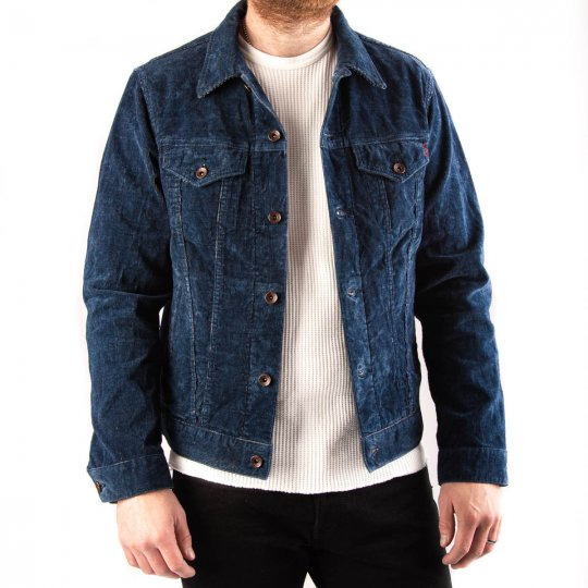 14w Corduroy Modified Type III Jacket - Indigo