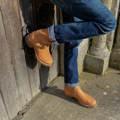 """Wesco® - 10"""" Natural Leather Engineer Boot. The """"Mister Lou"""""""
