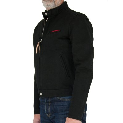 Quilt Lined 21oz Superblack Rider's Jacket