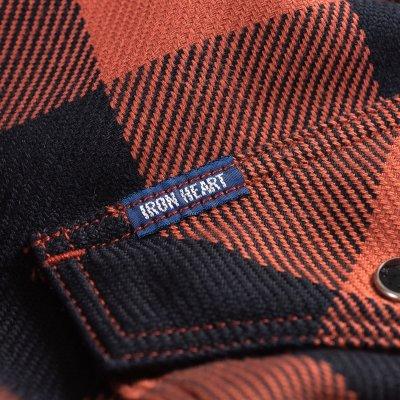 Check Western Shirt – Vermilion/Dark Indigo
