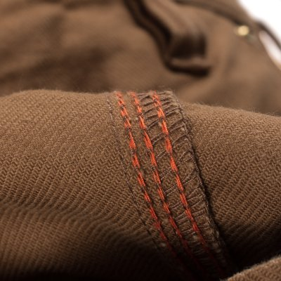 Swedish Serge Camp Shorts in Brown
