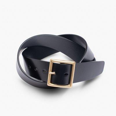 """OGL Vintage 1.75"""" Leather Belt - Black"""