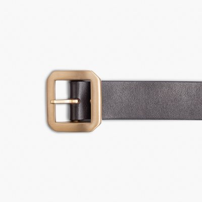 OGL Single Prong Garrison Buckle Leather Belt  - Brown