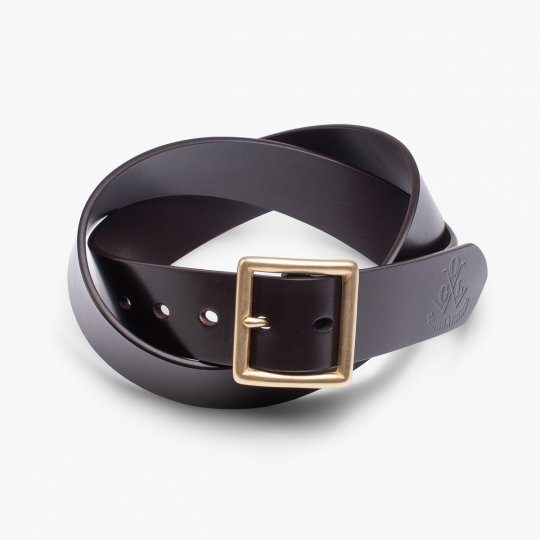 OGL Vintage Buckle Leather Belt - Brown