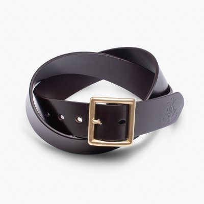 OGL Vintage Buckle Leather Belt  - Brown