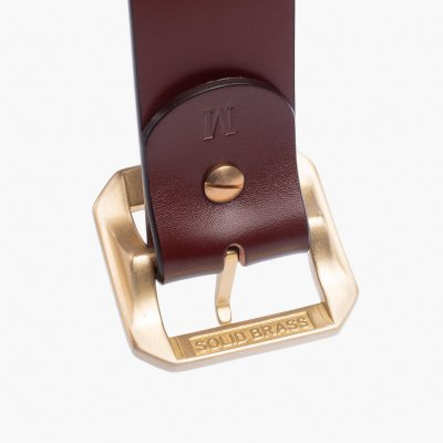 OGL Single Prong Garrison Buckle Leather Belt  - Tan