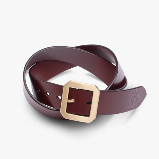 OGL Single Prong Garrison Buckle Leather Belt  - Tan