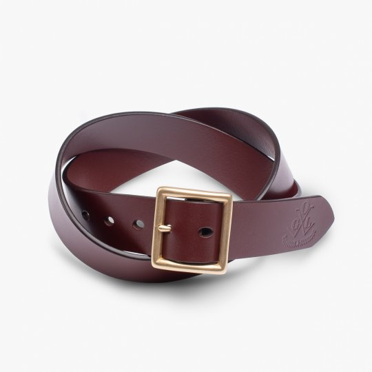 OGL Vintage Buckle Leather Belt - Tan