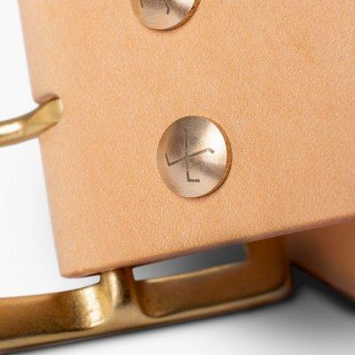 """OGL Vintage 1.75"""" Leather Belt - Natural"""