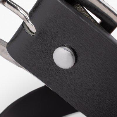OGL Vintage Buckle Leather Belt - Black