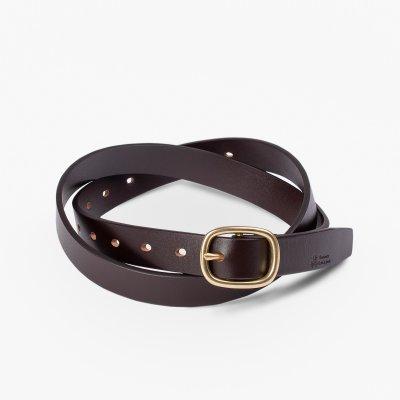 OGL Obbies Dress Narrow One-Size Leather Belt - Full-Dyed Black