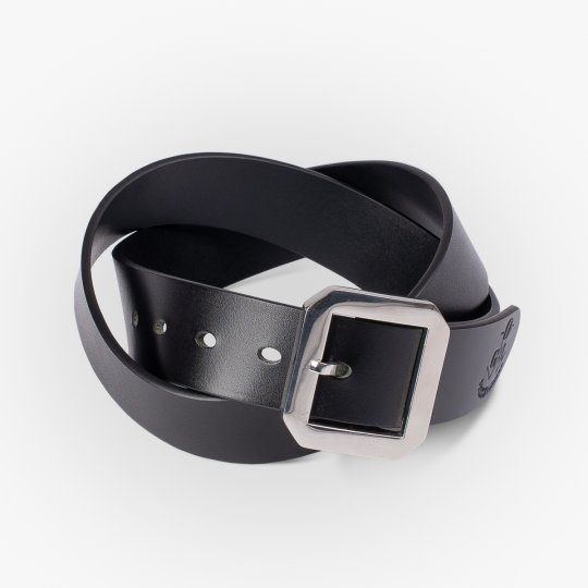OGL Single Prong Garrison Buckle Leather Belt - Black