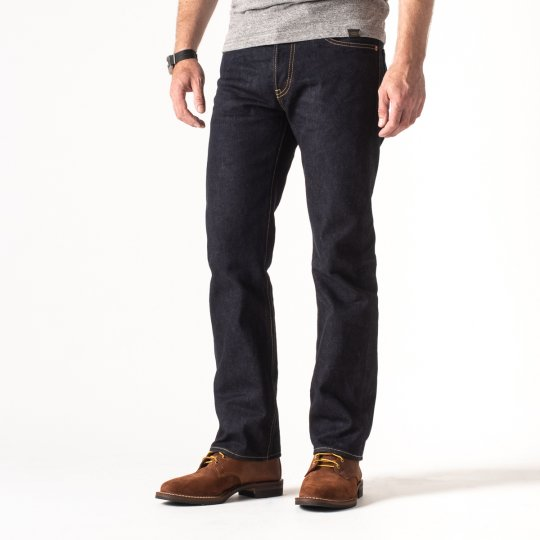 New Indigo 14oz Selvedge Denim Slim Straight Cut