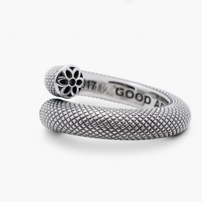 GOOD ART HLYWD Trick Dicky / Nixon Ring Smooth - Sterling Silver