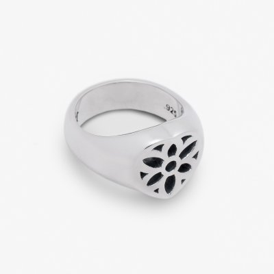 GOOD ART HLYWD Our Heart Signet Ring - Sterling Silver